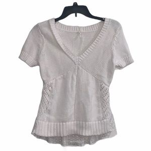 Anthropology Knit Short Sleeve Top